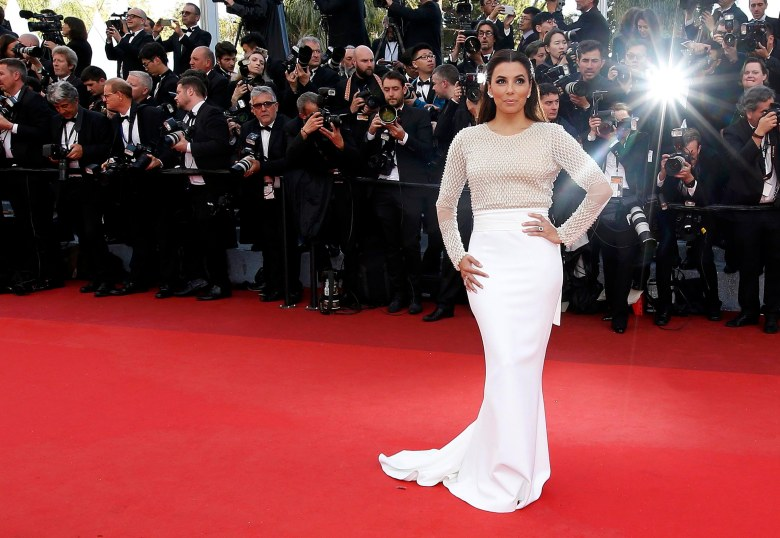 """Actress Eva Longoria poses on the red carpet as she arrives for the opening ceremony and the screening of the film """"Cafe Society"""" out of competition during the 69th Cannes Film Festival in Cannes"""